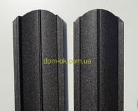Штакет металлический RAL 9005 матовый двухсторонний (0.5мм ) форма 108 мм