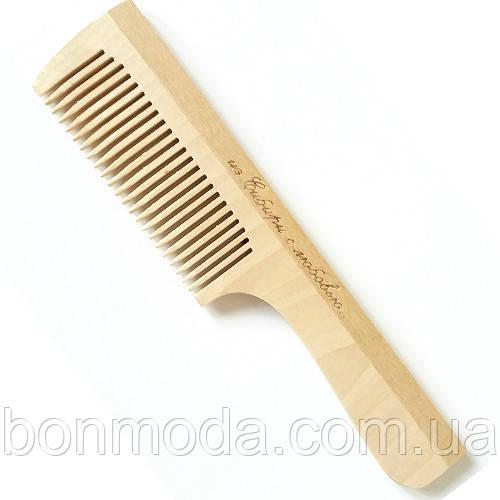 Расческа деревянная для волос (195mm / 23 зубьев) с ручкой