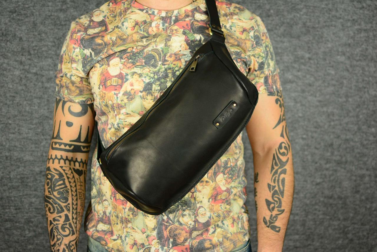 12b95c77e0df Мужская повседневная сумка-бананка |10157| Черный: продажа, цена в ...