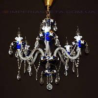 Люстра со свечами хрустальная IMPERIA шестиламповая LUX-431555