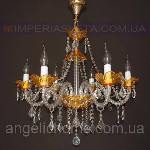 Люстра со свечами хрустальная IMPERIA шестиламповая LUX-401422