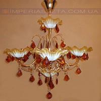 Люстра со свечами хрустальная IMPERIA шестиламповая LUX-341461