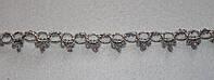 Тесьма декоративная люрекс серебро  6129, фото 1
