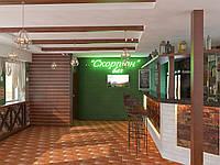 Дизайн  интерьеров кафе, баров, строительные работы