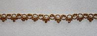 Тесьма декоративная люрекс золото  6130