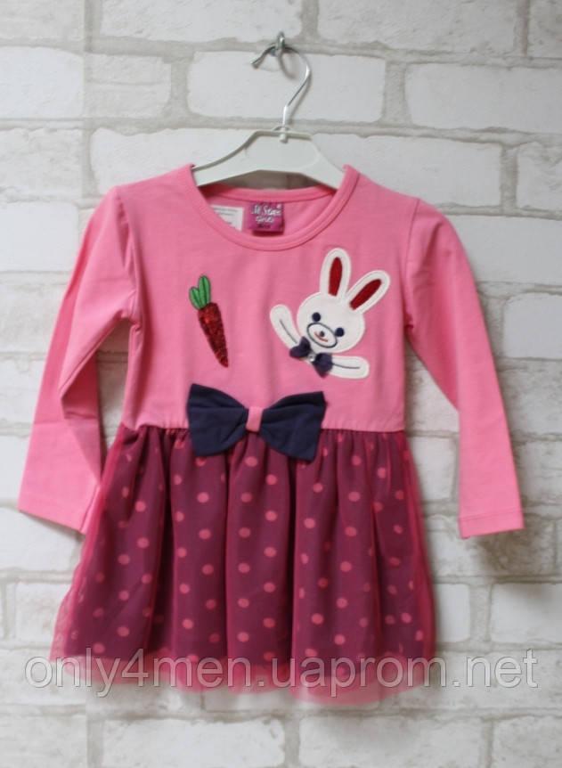 Платье трикотажное для девочки на 1-4 лет
