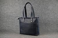 Женская кожаная сумка Shopper   Синий Винтаж, фото 1