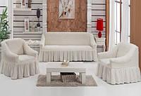 Чехол на 3-х местный диван + 2 кресла ESV Home натуральный