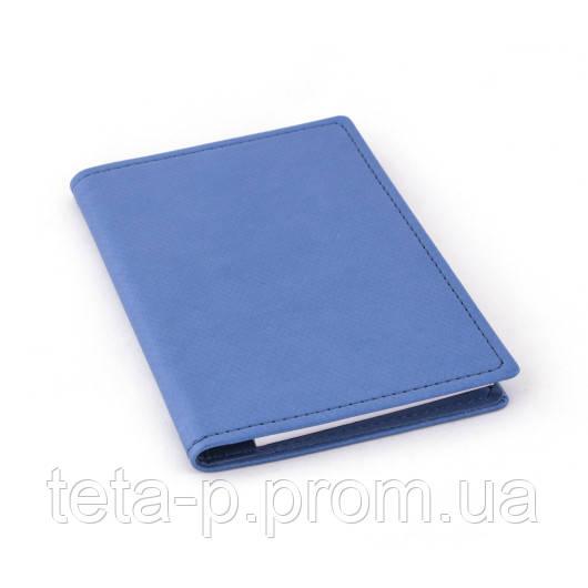 Холдер-блокнот размер 100x150 мм, материал Agenda Prizma, цвет - голубой
