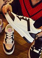 Белые повседневные женские кроссовки