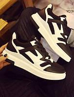 Черные повседневные женские кроссовки