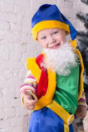 Карнавальный костюм для мальчика Лесной Гном зеленого цвета, фото 2