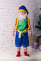 Карнавальный костюм для мальчика Лесной Гном зеленого цвета