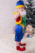 Карнавальный костюм для мальчика Лесной Гном зеленого цвета, фото 3