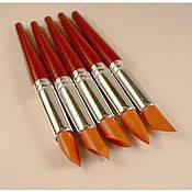 Стеки инструменты для лепки силиконовые кисти-для работы с глиной,воском,мастикой (5 шт.,размер M-L)