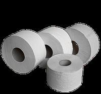 Туалетная бумага JUMBO в рулонах из вторичного сырья, на гильзе