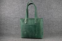 Женская кожаная сумка Shopper   Зеленый Винтаж, фото 1