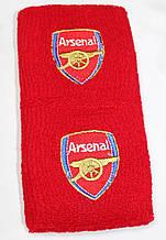 Напульсники махрові футбольні з вишитим гербом FC Arsenal