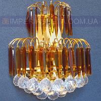 Хрустальное  бра, светильник настенный IMPERIA двухламповое LUX-410602