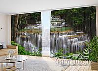 "Фото Шторы в зал ""Красивый водопад"" 2,7м*2,9м (2 половинки по 1,45м), тесьма"