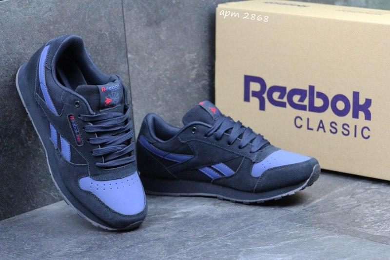 646b77922d8f3b Жіночі замшеві кросівки Reebok Classic -темно-сині