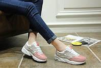 Стильные женские розовые кроссовки