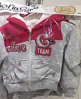 Детский батник для девочки Love 1-4 года