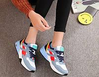 Женские синие кроссовки