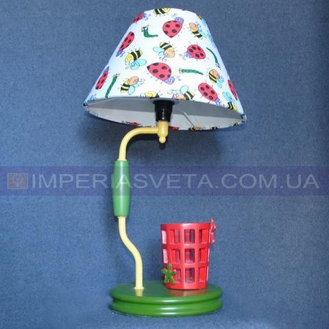 Детский настольный светильник ночник TINKO одноламповый с абажуром LUX-334221