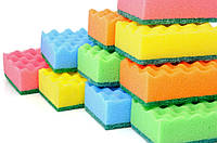 Губки для мытья посуды 5шт. в упаковке (стандарт)