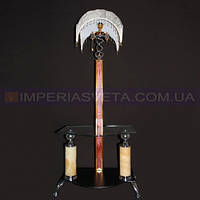 Торшер с журнальным столиком, напольный IMPERIA  с абажуром и дополнительной подсветкой основания LUX-352316