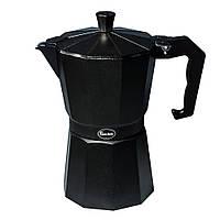 Гейзерная кофеварка 300мл 6 чашек Con Brio CB6406 Black
