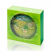 Свеча диск 130 мм Зелёный чай