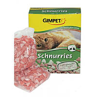 Джимпет (Gimpet) Schnurries витамины-сердечки для кошек с таурином и ягненком (650 шт) 420г