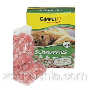 Джимпет (Gimpet) Schnurries вітаміни-сердечка для кішок з таурином і ягням (650 шт) 420г