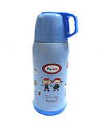 Термос детский для школы Con Brio 0,5л CB-346 Blue