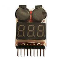 Тестер бортовой DYS для Li-Pol батарей 1-8S со звуковым сигналом