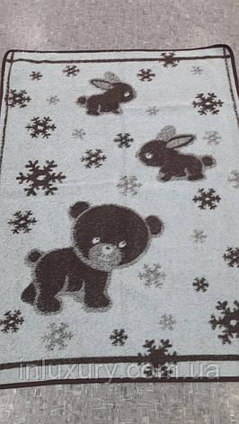"""Ковдра жакардове напіввовняна """"Vladi"""" Сніжок дитяче (100x140), фото 2"""