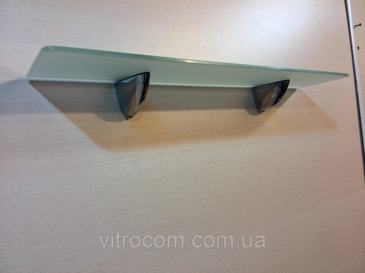 Полка стеклянная прямая матовая 6 мм 40 х 15 см