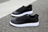Классические черные мужские кроссовки