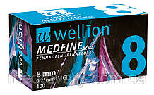 Иглы Wellion для инсулиновых шприц-ручек 8мм №100
