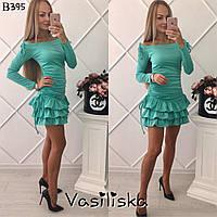 Модное платье с юбкой с рюшами и регулировкой длинны