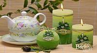 Свеча колонна 70x140 мм Зелёный чай