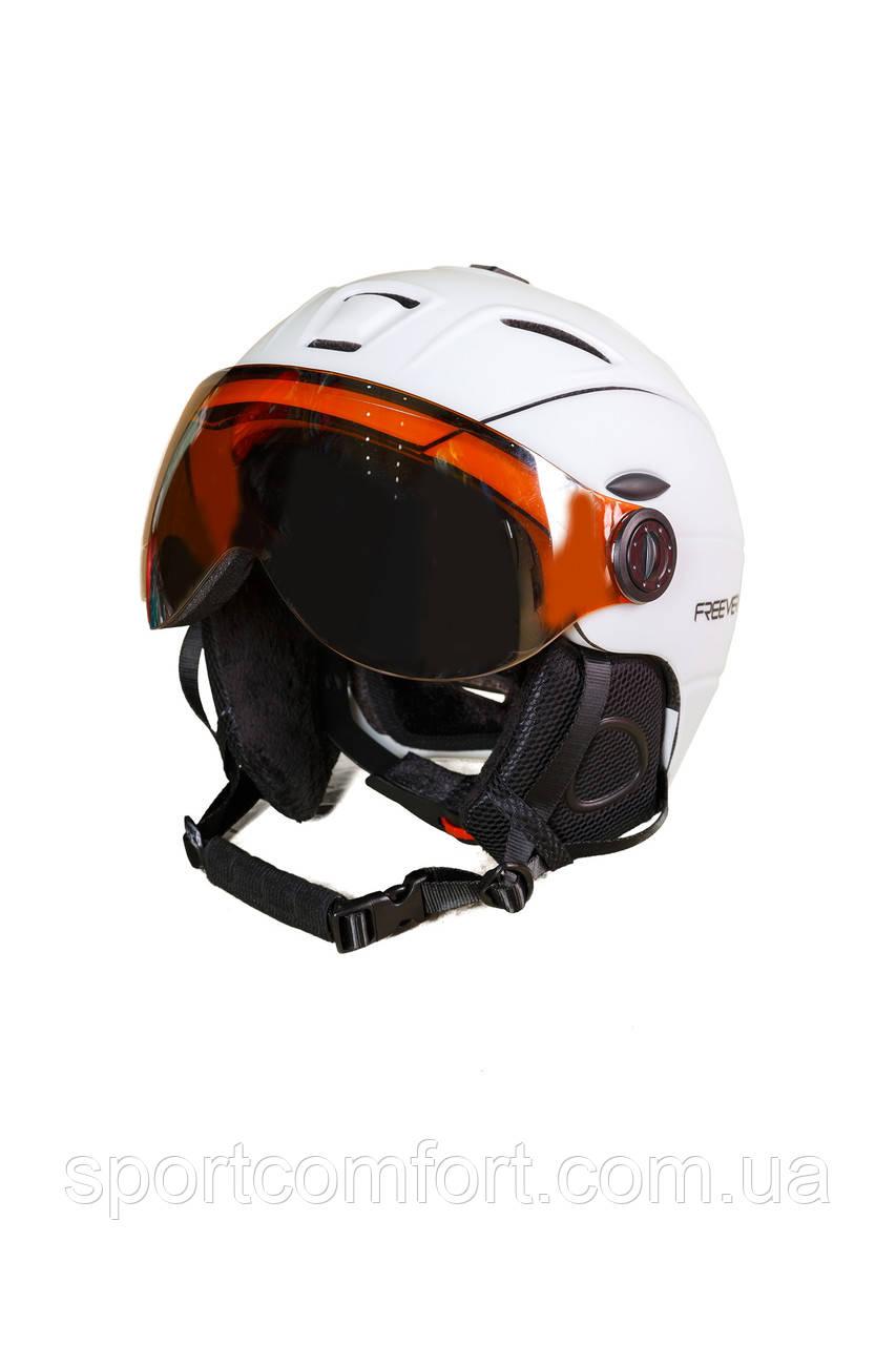Шлем белый мужской с маской