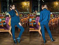 Ангоровый повседневный костюм с воротником 31SP63