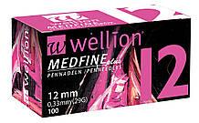 Иглы Wellion для инсулиновых шприц-ручек 12мм №100