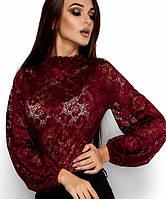 Красивая женская гипюровая блузка(Австралияkr) марсала