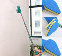 3 в 1 Швабра Губка для Чистки ;Щетка Для Очистки Clean Reach