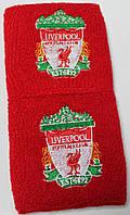 Напульсники махровые футбольные с вышитым гербом FC Liverpool
