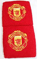 Напульсники махровые футбольные с вышитым гербом FC Manchester